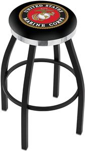 United States Marine Corps Flat Ring Blk Bar Stool