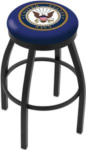 United States Navy Flat Ring Blk Bar Stool