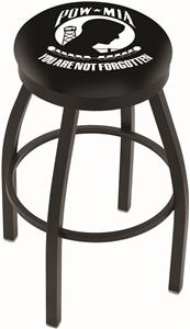 Holland POW/MIA Flat Ring Blk Bar Stool