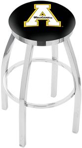 Appalachian State Univ Flat Ring Chrome Bar Stool