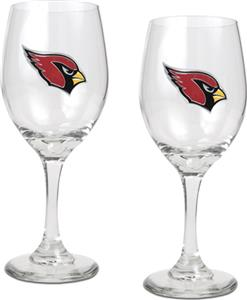 NFL Arizona Cardinals 2 Piece Wine Glass Set