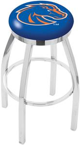 Boise State University Flat Ring Chrome Bar Stool
