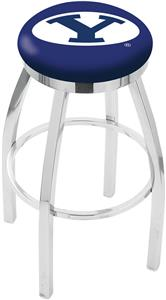 Brigham Young Univ Flat Ring Chrome Bar Stool