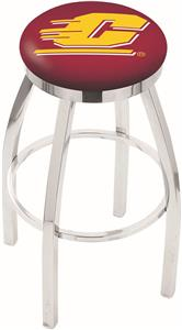 Central Michigan Univ Flat Ring Chrome Bar Stool
