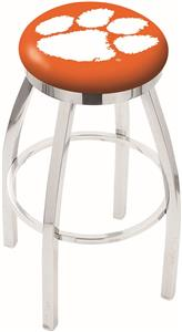 Holland Clemson Flat Ring Chrome Bar Stool
