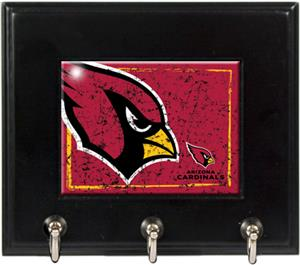 NFL Arizona Cardinals Wood Keyhook Rack