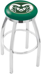 Colorado State Univ Flat Ring Chrome Bar Stool