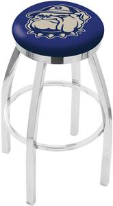 Georgetown University Flat Ring Chrome Bar Stool
