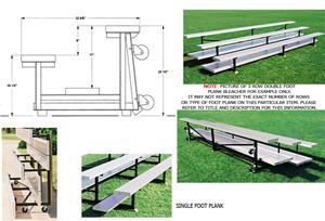 Tip N Roll Bleachers, 2 ROW No-Elev No Aisles