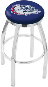 Gonzaga Flat Ring Chrome Bar Stool