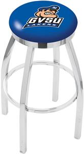 Grand Valley State Univ Flat Ring Chrome Bar Stool