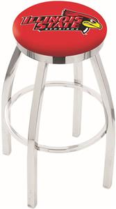 Illinois State Univ Flat Ring Chrome Bar Stool