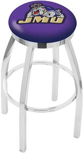 James Madison Univ Flat Ring Chrome Bar Stool