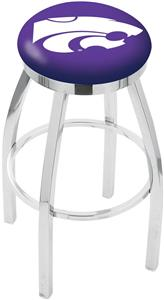Kansas State University Flat Ring Chrome Bar Stool