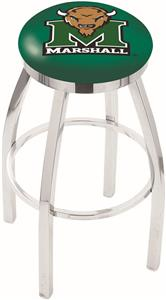 Marshall University Flat Ring Chrome Bar Stool