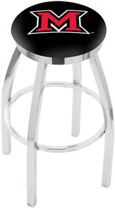 Miami University (OH) Flat Ring Chrome Bar Stool