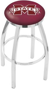 Mississippi State Univ Flat Ring Chrome Bar Stool
