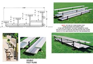 Tip N Roll Bleachers, 4 ROW Non-Elev No Aisle