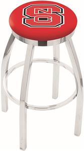 North Carolina State Flat Ring Chrome Bar Stool