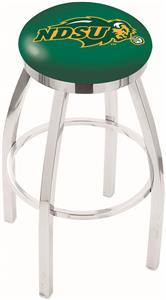 North Dakota State Univ Flat Ring Chrome Bar Stool