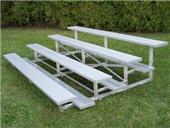 Bleachers 2 ROW Non-Elevated Std Rise No Aisles