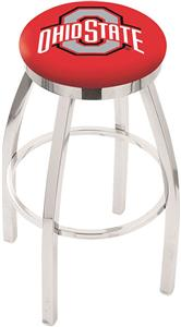 Ohio State University Flat Ring Chrome Bar Stool