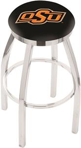 Oklahoma State Univ Flat Ring Chrome Bar Stool