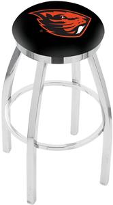 Oregon State University Flat Ring Chrome Bar Stool