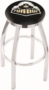 Holland Purdue Flat Ring Chrome Bar Stool
