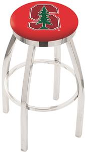 Stanford University Flat Ring Chrome Bar Stool