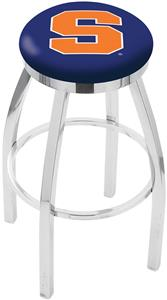 Syracuse University Flat Ring Chrome Bar Stool