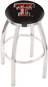 Texas Tech University Flat Ring Chrome Bar Stool