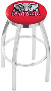 Univ Alabama Elephant Flat Ring Chrome Bar Stool