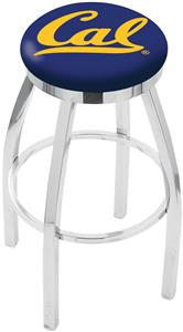 Univ of California Flat Ring Chrome Bar Stool