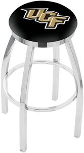 Univ of Central Florida Flat Ring Chrome Bar Stool
