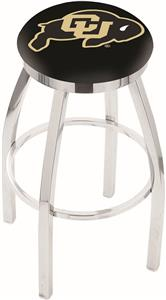 University of Colorado Flat Ring Chrome Bar Stool