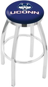 Univ of Connecticut Flat Ring Chrome Bar Stool