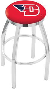 University of Dayton Flat Ring Chrome Bar Stool