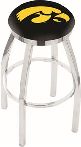 University of Iowa Flat Ring Chrome Bar Stool