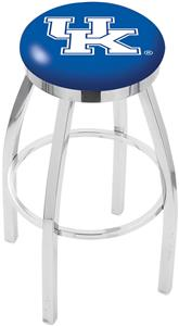 Univ of Kentucky UK Flat Ring Chrome Bar Stool