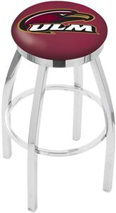 Univ Louisiana Monroe Flat Ring Chrome Bar Stool