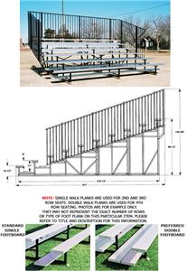 Bleachers, 10 ROW No-Elevated Std Rise No Aisle
