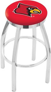 Univ of Louisville Flat Ring Chrome Bar Stool