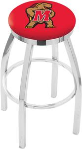 University of Maryland Flat Ring Chrome Bar Stool