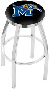 University of Memphis Flat Ring Chrome Bar Stool