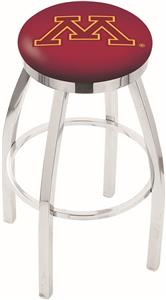 University of Minnesota Flat Ring Chrome Bar Stool