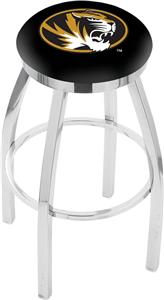 University of Missouri Flat Ring Chrome Bar Stool