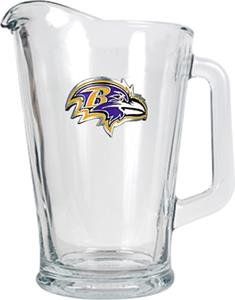 NFL Baltimore Ravens 1/2 Gallon Glass Pitcher