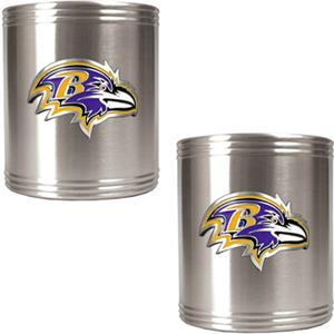 NFL Baltimore Ravens Stainless Steel Can Holders