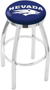 University of Nevada Flat Ring Chrome Bar Stool